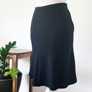 Henri Bendel Career Wool Blend Black Skirt 8